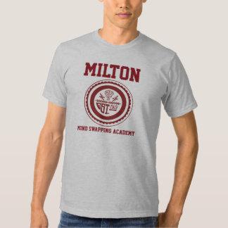 Mente de Milton que intercambia la camisa de la