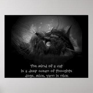 Mente de un haiku del gato impresiones