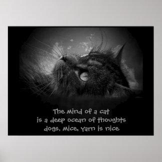 Mente de un haiku del gato posters