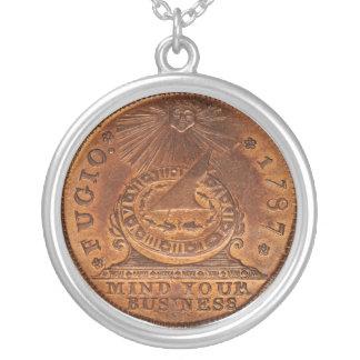 Mente del centavo de Fugio su penique del cobre de Colgante Redondo
