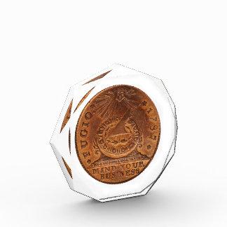 Mente del centavo de Fugio su penique del cobre de