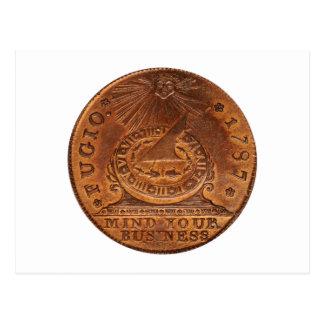 Mente del centavo de Fugio su penique del cobre Tarjetas Postales