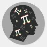 Mente del pi - pegatina de la matemáticas