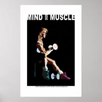 Mente sobre el músculo póster