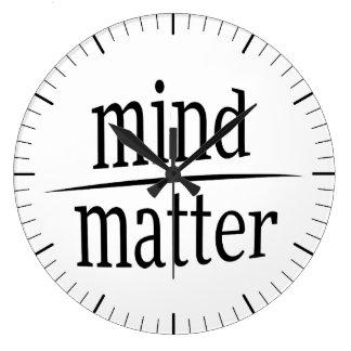 Mente sobre la fracción de motivación de la reloj redondo grande