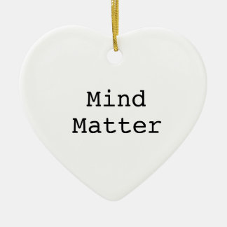 Mente sobre materia adorno navideño de cerámica en forma de corazón
