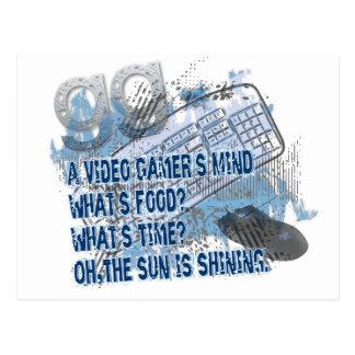 Mente video de los videojugadores - GG - teclado - Tarjeta Postal