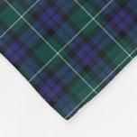 Menteith Scotland District Tartan Fleece Blanket
