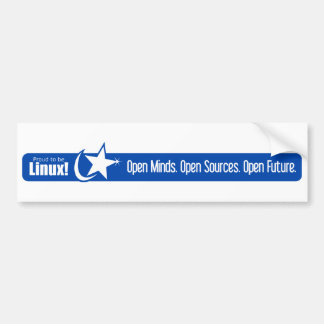 Mentes abiertas, fuentes abiertas, futuro abierto  etiqueta de parachoque