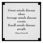 Mentes de la cita el   de Eleanor Roosevelt Impresiones
