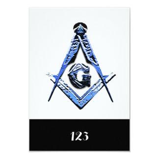 """Mentes masónicas (azules) invitación 3.5"""" x 5"""""""