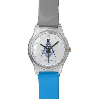 Mentes masónicas (azules) reloj de mano