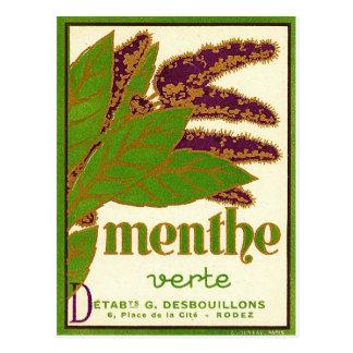 Menthe Vert Postcard