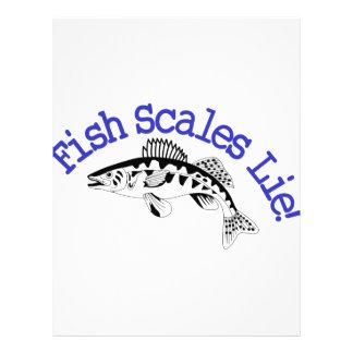 Mentira de las escalas de pescados membrete a diseño
