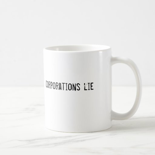 mentira de las sociedades taza básica blanca