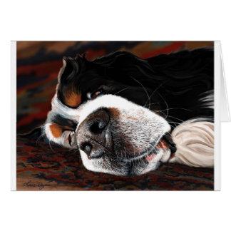 Mentira de los perros el dormir tarjeta de felicitación