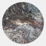 Mentira del Titania dormida Etiqueta Redonda