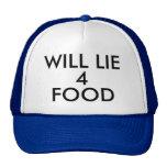 MENTIRÁ la gorra de béisbol del gorra de 4 COMIDAS