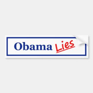 Mentiras 3 de Obama Pegatina Para Auto