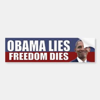 Mentiras de Obama - dados de la libertad Pegatina De Parachoque