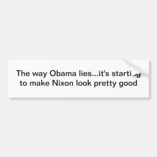 Mentiras de Obama Pegatina Para Auto