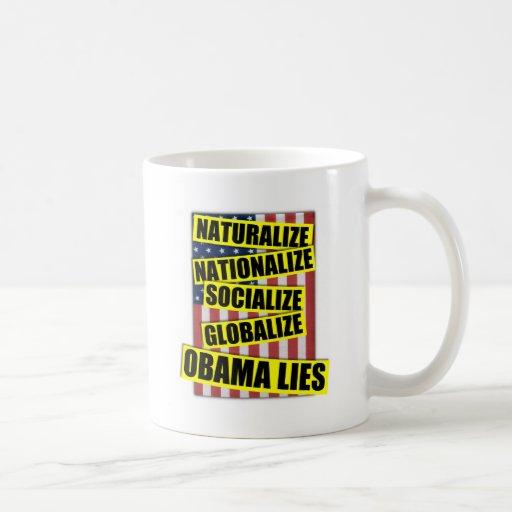 Mentiras de Obama Taza