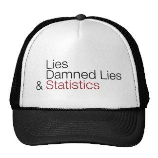 Mentiras, mentiras maldecidas, y estadísticas gorros bordados