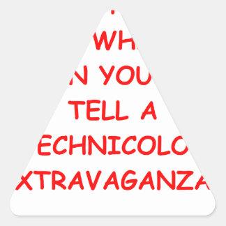 mentiras pegatina triangular