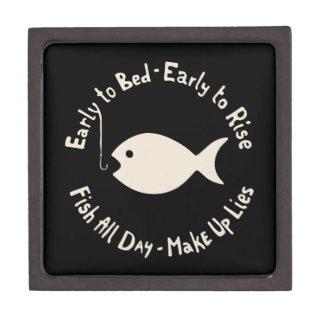 Mentiras tempranas de los pescados cajas de joyas de calidad