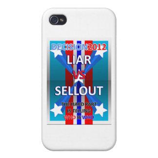 Mentiroso contra lleno iPhone 4 funda