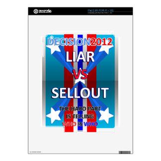 Mentiroso contra lleno skins para iPad 2