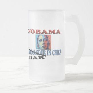 Mentiroso de NOBAMA en jefe Taza De Cristal