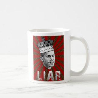 Mentiroso de Obama Taza De Café