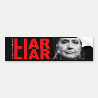 Mentiroso del Clinton-Mentiroso de Hillary Pegatina Para Auto