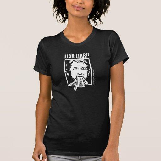 Mentiroso del mentiroso camiseta