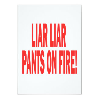 "Mentiroso del mentiroso invitación 5"" x 7"""