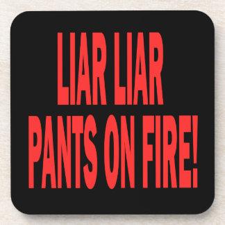 Mentiroso del mentiroso posavasos