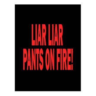 Mentiroso del mentiroso postales