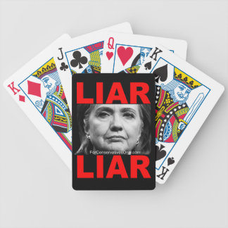 Mentiroso Hillary Clinton del mentiroso Baraja