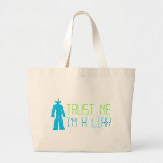Mentiroso, mentiroso bolsa tela grande