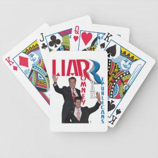 Mentiroso - Mitt Romney y Paul Ryan Baraja Cartas De Poker
