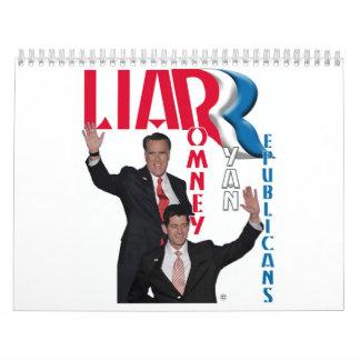 Mentiroso - Romney y Ryan Calendarios