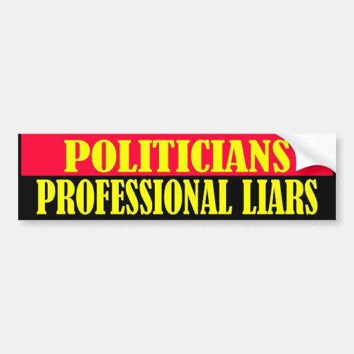 mentirosos profesionales pegatina para auto