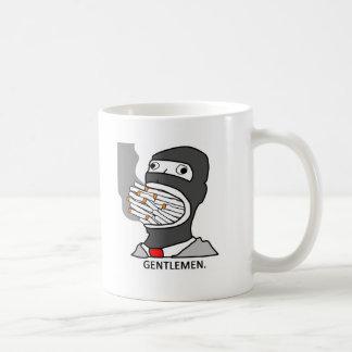 mentlegen de los caballeros tazas de café