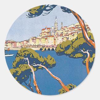 Menton Classic Round Sticker