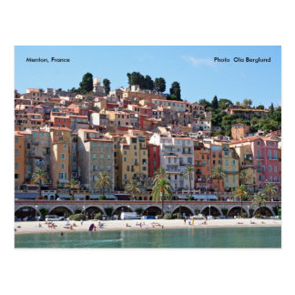 Menton, France, Photo  Ola Berg... Postcard