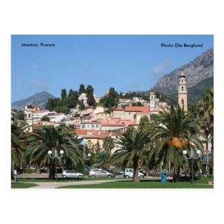 Menton, France, Photo Ola Berglund Postcard