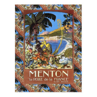 Menton, Le perle de la France Post Card