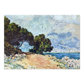 Menton Seen from Cap Martin by Claude Monet 5x7 Paper Invitation Card