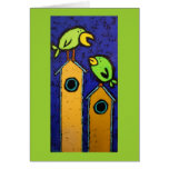 mentor card with birds and birdhouses